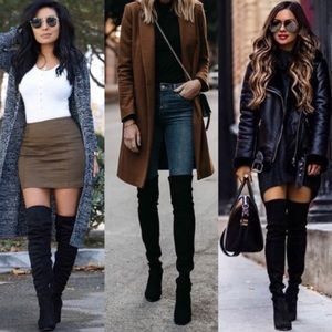 ❣️LAST 9❣️ Over the Knee Back Lace Up Boots Black